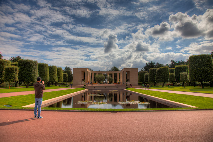 WW II Memorial for fallen American Soldiers at Omaha Beach, Normandy France