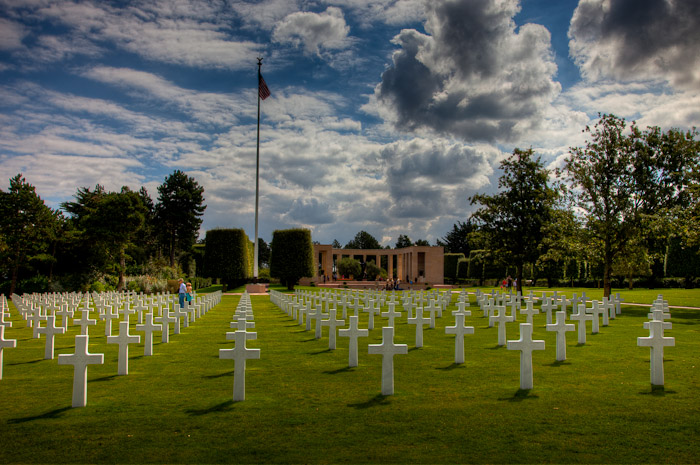 More Amerian Soldier's Graves at Omaha Beach, Normandy France