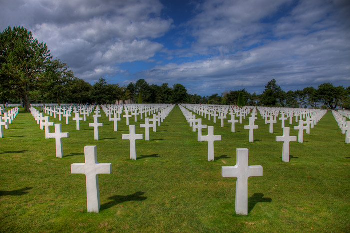 Amerian Soldier's Graves at Omaha Beach, Normandy France