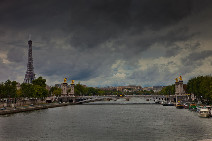Seine River, Alexander II and View of the Eiffel Tower