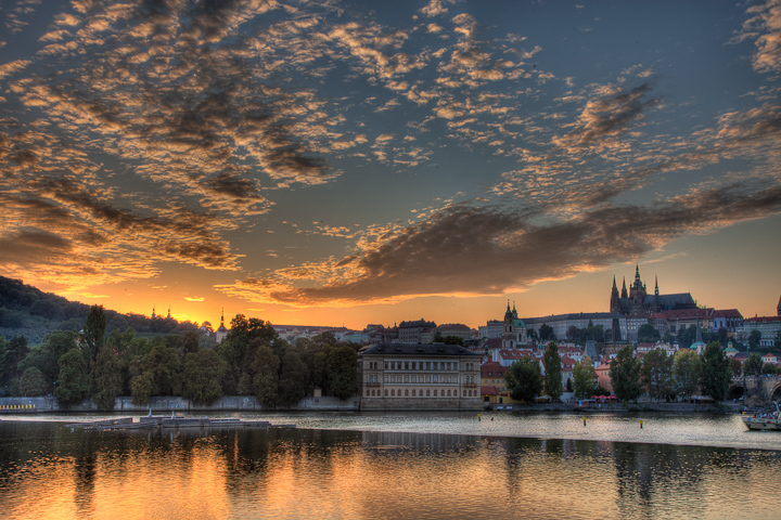 Sunset Behind Prague Castle