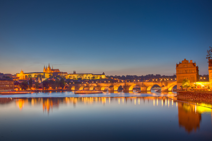 Prague Catle and St Charles Bridge