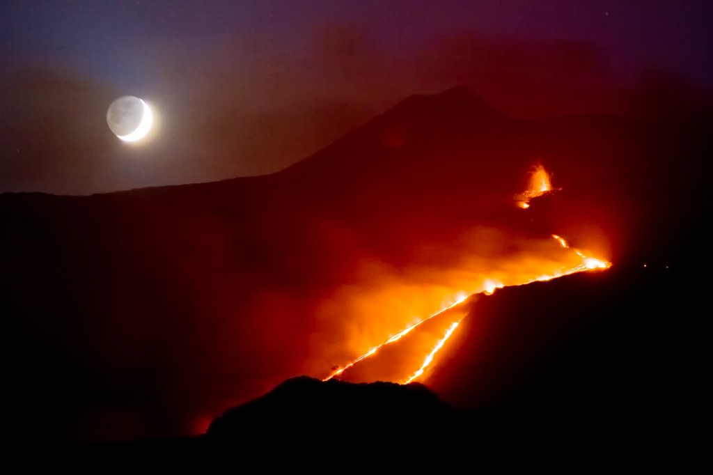 Mt Etna Says Hello