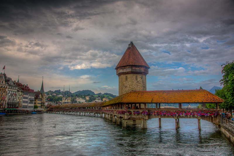 Covered Bridge Lucerne Switzerland
