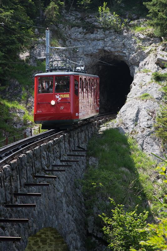 The climb of Mt Pilatus begins the tough journey