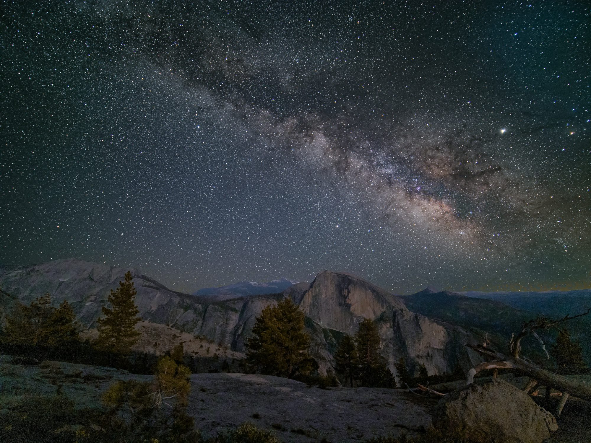 Milky Way Over Half Dome