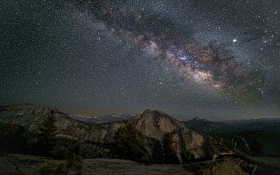 Milky Way over Half Dome