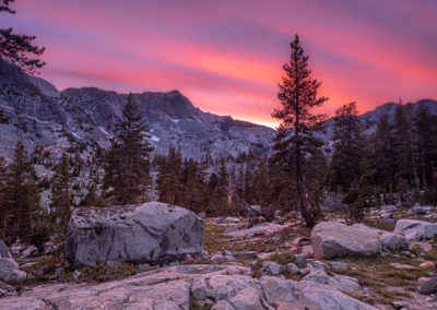 Sunset in the Sierra