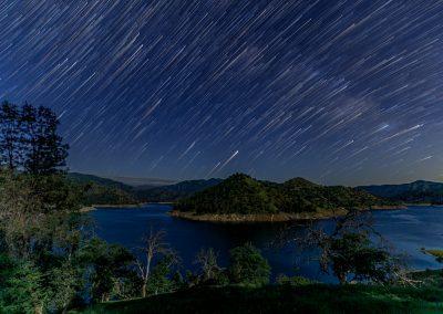 Stars over Pine Flat Lake